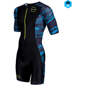 Zone3 Activate+ Lyhythihainen Triathlon-puku Miehet, stealth speed-black/grey/teal